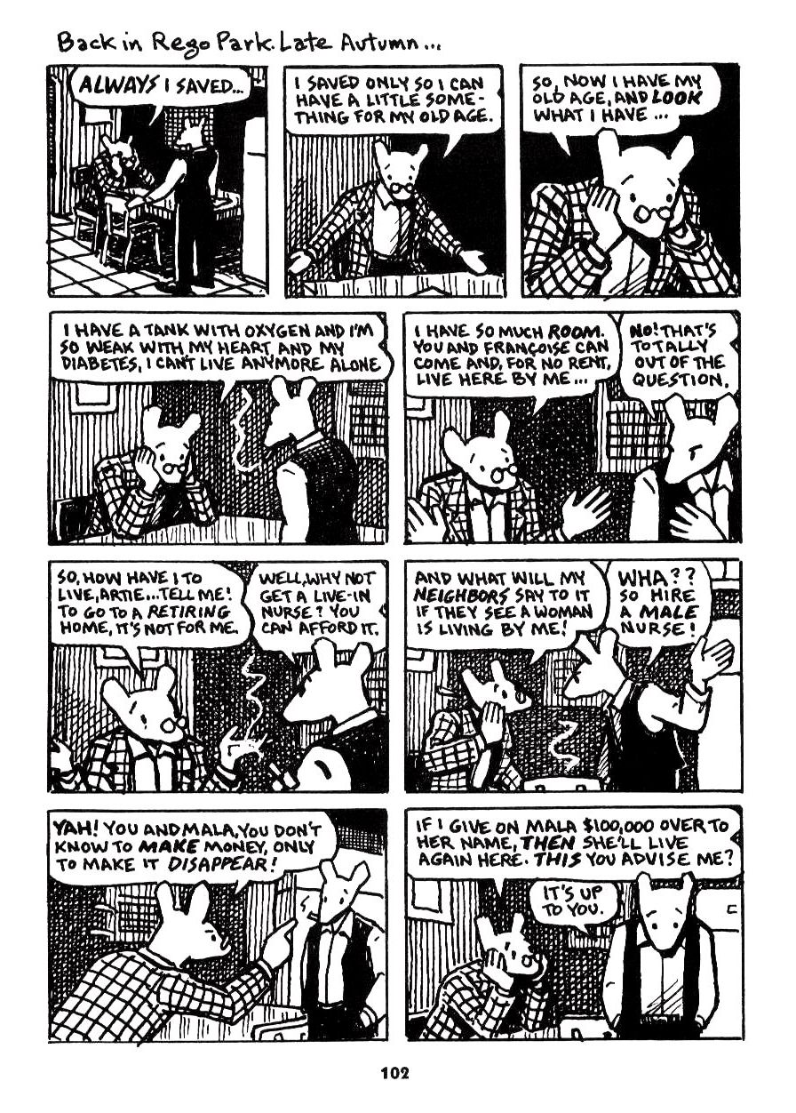 maus by art spiegelman Art spiegelman has, according to the la weekly, almost single-handedly brought comic books out of the toy closet and onto the literature shelves in 1992 he won the pulitzer prize for his.